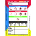 """Globally Harmonized System (GHS) Secondary Container Labels, 3.5"""" x 2.5"""", 100 Labels per Roll"""