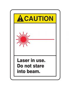 LASER SIGN, 14 x 10In, BK, R and YEL/WHT (PACK OF 5)