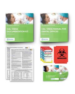 Cal/OSHA Manual Binder + Cal/OSHA Documentation Binder for Dental Offices