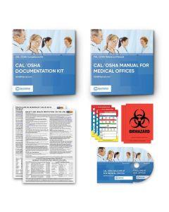 Cal/OSHA Manual Binder + Cal/OSHA Documentation Binder For Medical Offices