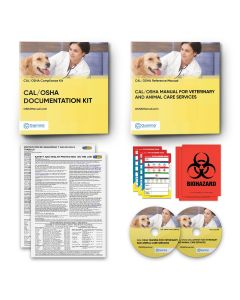 Cal/OSHA Manual + Cal/OSHA Documentation Binder + Cal/OSHA Training Program for Veterinary Offices