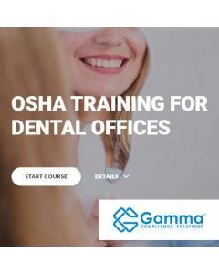 2021 OSHA Training for Dental Offices (Online)