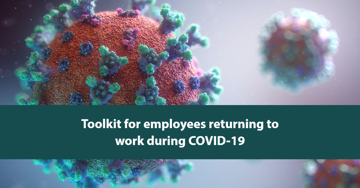 toolkit for employees returning to work during COVID-19